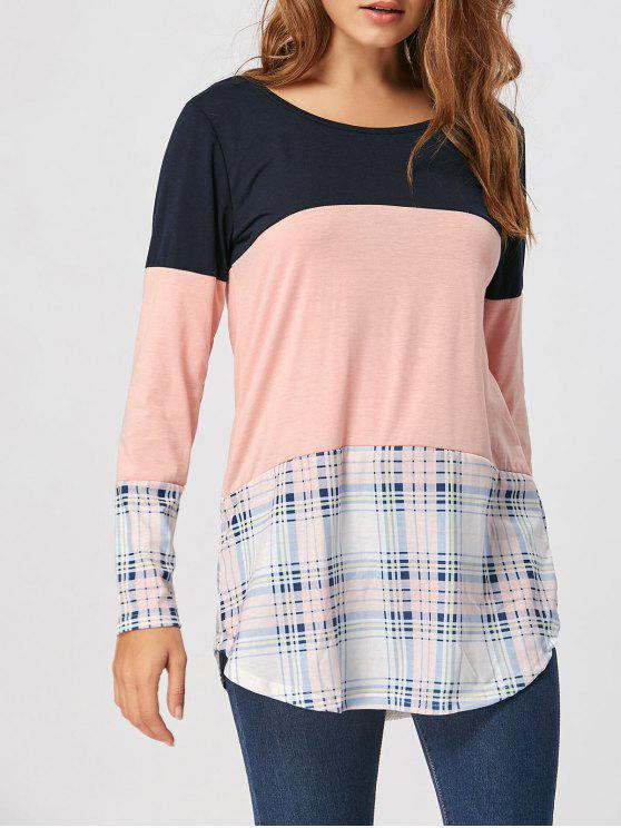 Plaid Tee del pannello del merletto - Rosa XL