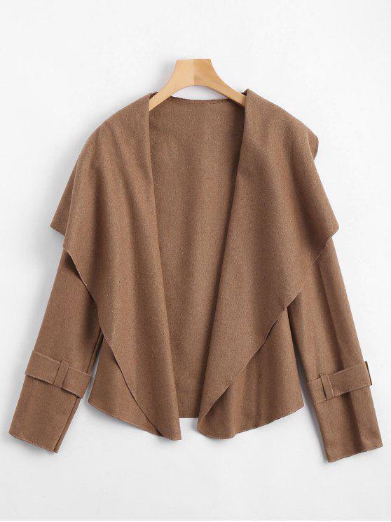 معطف شال الرقبة مربوط - جمل XL