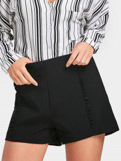 High Waisted Ruffles Shorts - Black L