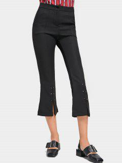 Ninth High Waisted Slit Boot Cut Pants - Black M