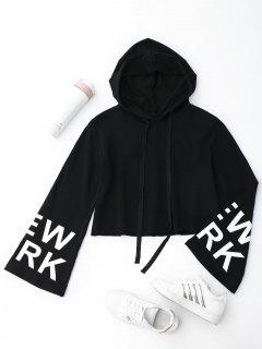 New York Cropped Hoodie - Black L