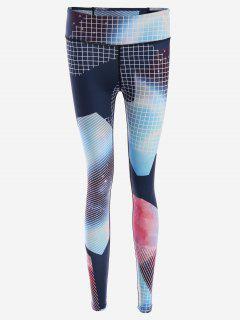 Slim Fit Patterned Yoga Leggings - M