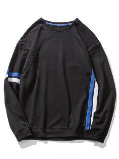 Braid Embelleció La Camiseta Del Hombro De La Gota - Negro M