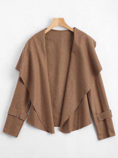 Shawl Collar Belted Cuff Coat - Camel M