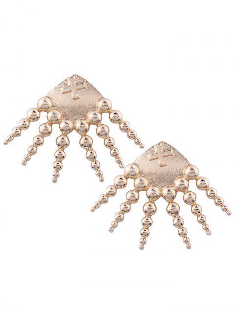 Alloy Statement Geometric Cross Earrings - Or  Mobile