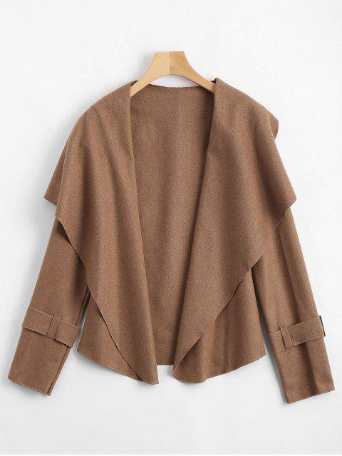 buy Shawl Collar Belted Cuff Coat - CAMEL L Mobile