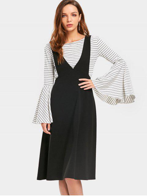 c9c4c8e5c S | ZAFUL فساتين كاجوال : أسود فستان ميدي مريح