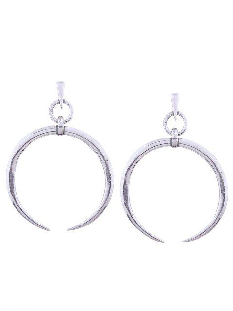 Alloy Tribal Moon Pendientes - Plata  Mobile