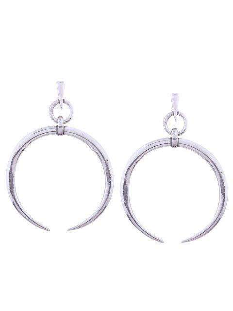 buy Alloy Tribal Moon Earrings - SILVER  Mobile