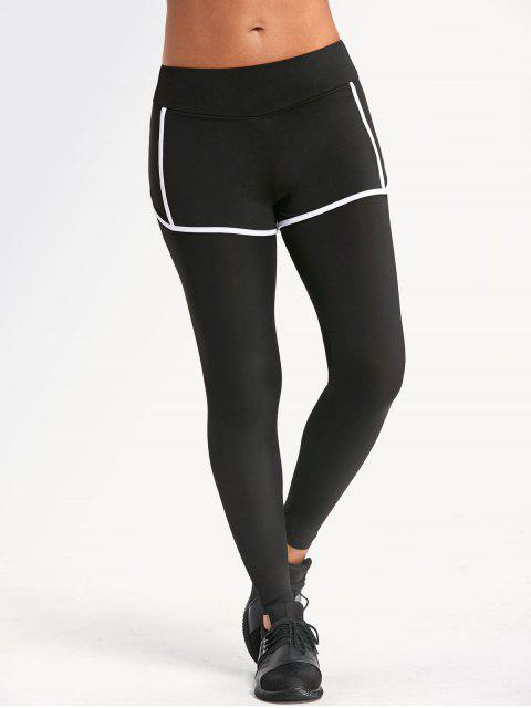 new Sweat Absorbent Overlay Yoga Leggings - BLACK L Mobile