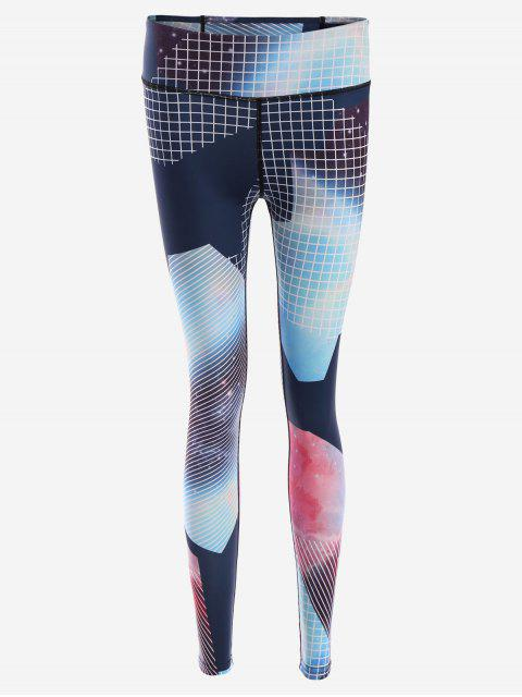 Slim Fit Patterned Yoga Leggings - Multicolore S Mobile