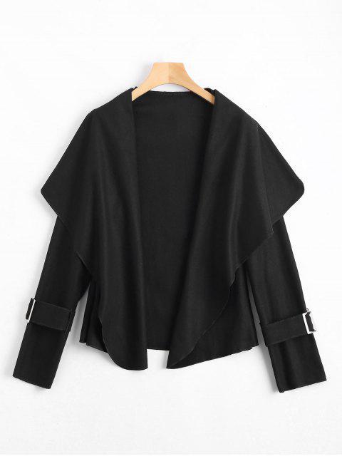 Manteau Col Châle à Ceinture - Noir M Mobile