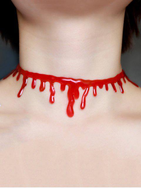 Пластиковое Ожерелье Чокер Хэллоуина В Виде Крови - Красный  Mobile