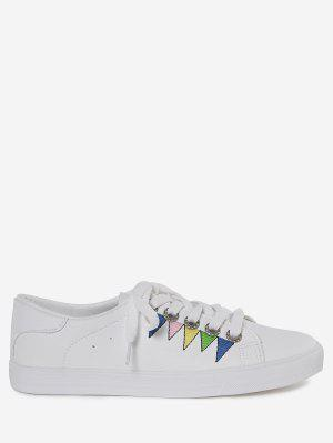 Stitching Geometric Multicolor Sneakers