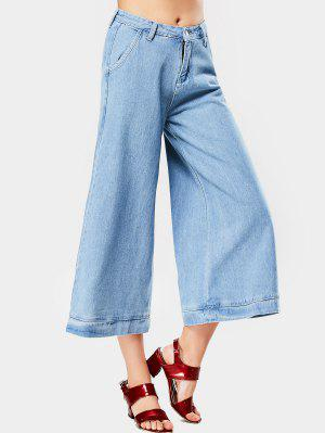 High Waist Cropped Wide Leg Jeans