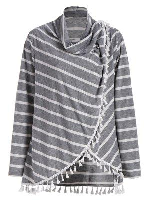 Plus Size Striped Tassel T-Shirt