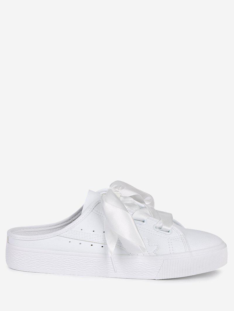 Slip On PU Leather Flat Shoes 224711902