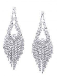 Sparkly Rhinestone Chandelier Teardrop Earrings SILVER: Earrings ...