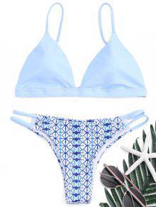 Ensemble De Bikini Imprimé Scrunch Butt - Azur L