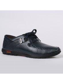خياطة معدني مزين منخفضة أعلى الأحذية عارضة - ازرق غامق 42