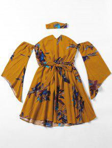 Manteau à Bascule Floral Off The Shoulder Blouse With Choker - Terreux M