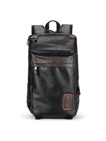 الجانب جيب بو الجلود حقيبة كمبيوتر محمول - أسود