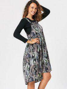 abf3cf458ef 21% OFF  2019 Printed Flowy Overall Dress In COLORMIX