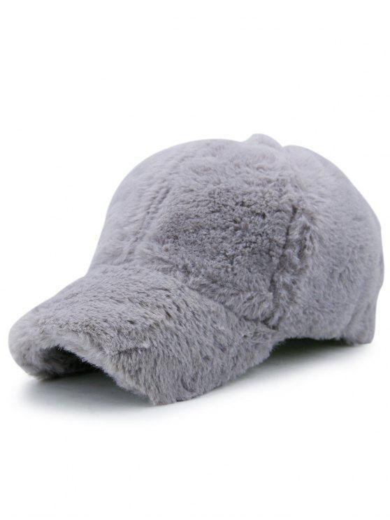 Cappello da baseball fluffy - Grigio