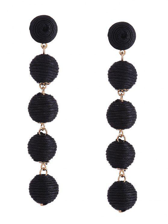 sale Ethnic Ball Earrings - BLACK