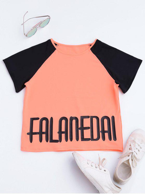 Falanedai Graphic Sports T-shirt - Orange Rose L