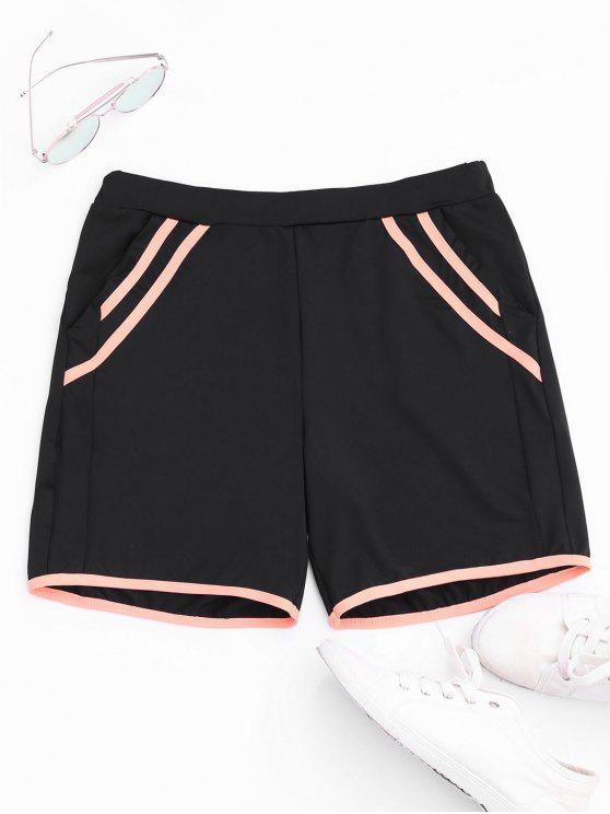 outfits Stripe Workout Shorts - BLACK M
