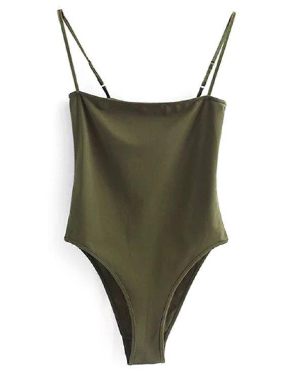 hot Camisole Bodysuit - ARMY GREEN M