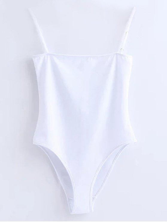 fashion Camisole Bodysuit - WHITE S