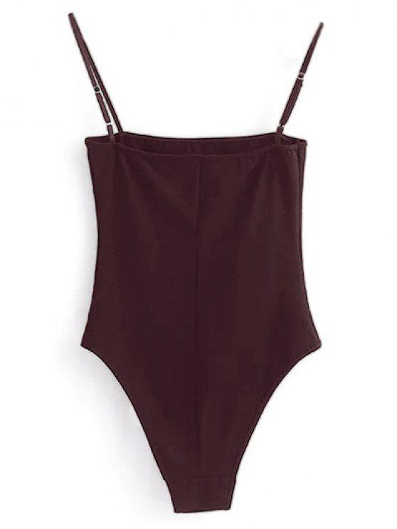 affordable Camisole Bodysuit - WINE RED L