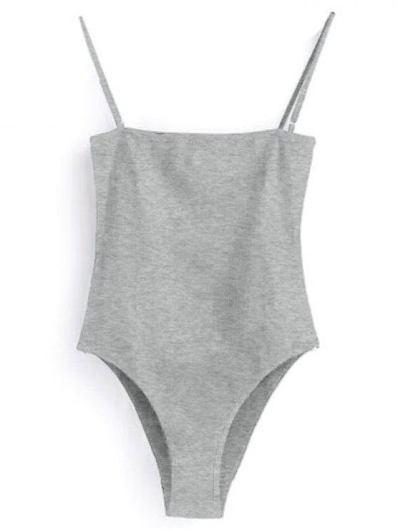women Camisole Bodysuit - GRAY XL