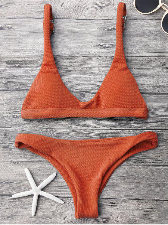 Ensemble de Bikini Rembourré Taille Basse - Tangerine S