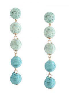 Ethnic Ball Earrings - Green