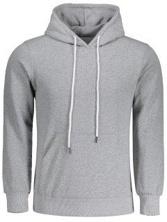 Mens Kangaroo Pocket Hoodie - Gray 2xl