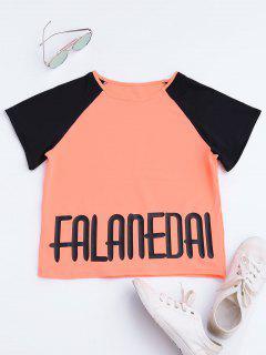 Falanedai Graphic Sports T-shirt - Orange Rose S