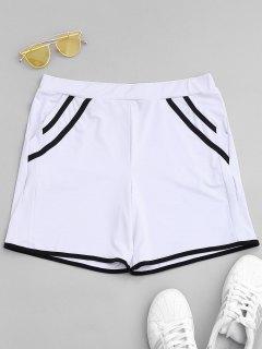 Stripe Workout Shorts - White S
