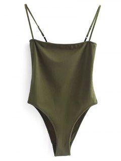 Camisole Bodysuit - Army Green M