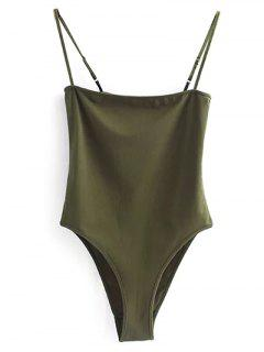 Camisole Bodysuit - Army Green M