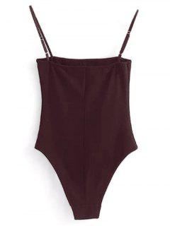 Camisole Bodysuit - Wine Red Xl