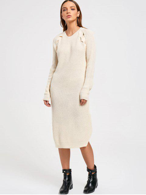 fashion Side Slit Sweater Dress - PALOMINO ONE SIZE Mobile