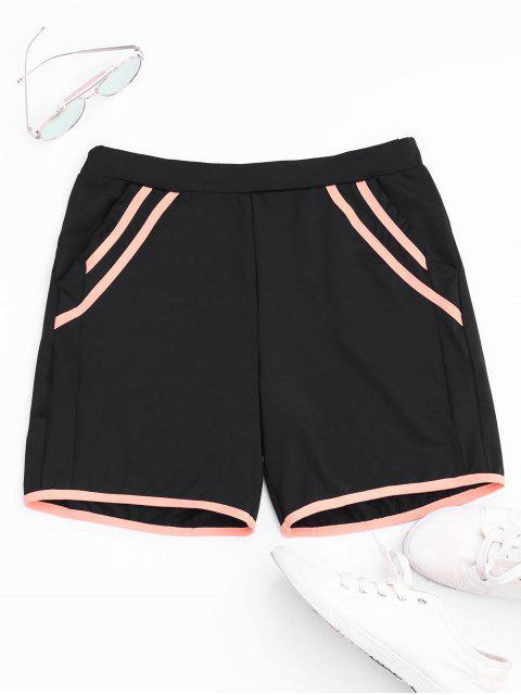outfits Stripe Workout Shorts - BLACK M Mobile