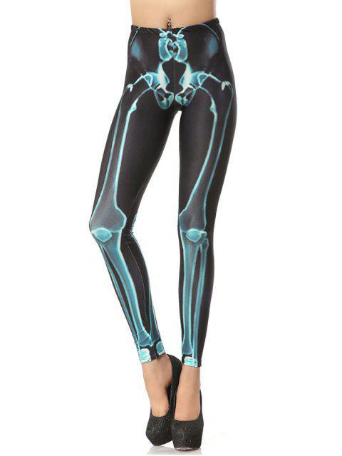 Halloween Bone 3D Print Leggings - Dunkelgrau S Mobile