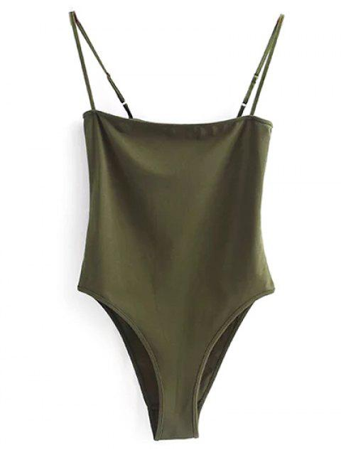 hot Camisole Bodysuit - ARMY GREEN M Mobile