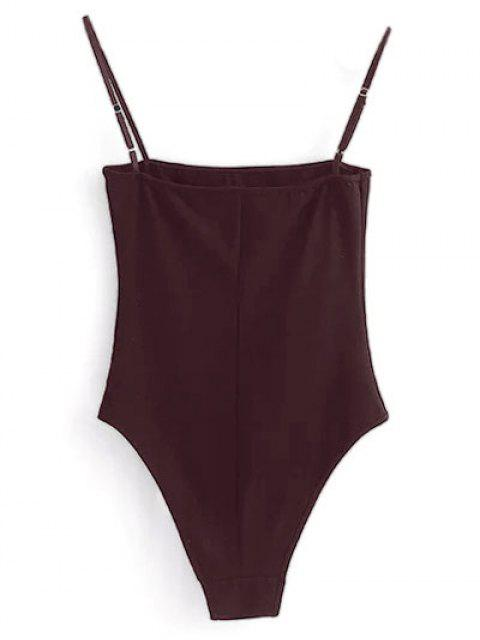 buy Camisole Bodysuit - WINE RED XL Mobile