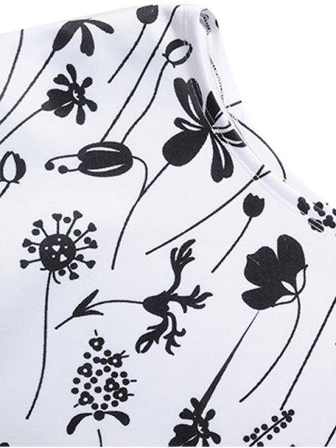trendy Print One Shoulder Sweatshirt - WHITE 2XL Mobile