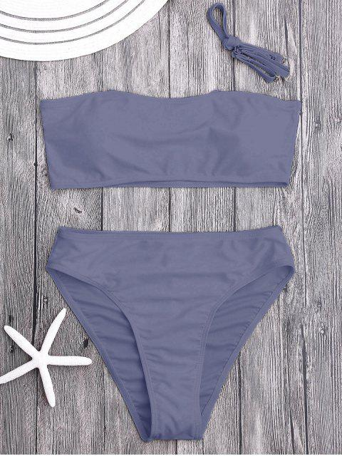 chic Padded High Cut Bandeau Bikini Set - SMASHING M Mobile